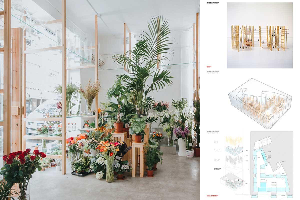 طراحی داخلی گلفروشی ارکید در اسپانیا