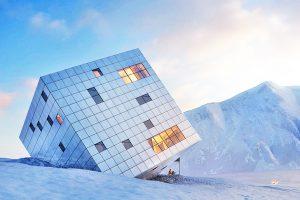 مکعب یخی اسلوواکی؛ یک طرح جسورانه از گروه معماری Atelier 8000