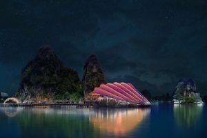 طراحی جالب توجه ساختمان تئاتر در یکی از شهرهای ویتنام