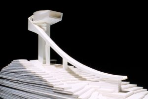 طراحی سکوی پرتاب اسکی Bergisel اتریش توسط دفتر معماری زاها حدید