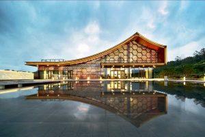 تلفیق معماری سنتی و مدرن چین در طراحی باشگاه تفریحی Poly He