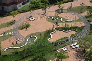 طراحی محوطه دانشگاه کیوشو سانگیو در ژاپن