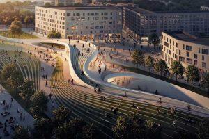 طراحی ایستگاه مترو اسلو توسط زاها حدید و A-Lab
