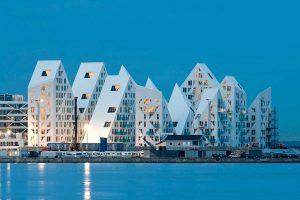 طراحی شهرک مسکونی آیس برگ در دانمارک با الهام از کوه های یخ منطقه