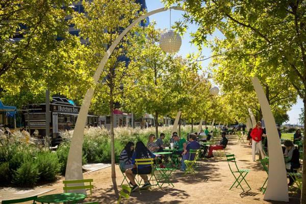 ترکیب مهندسی و طراحی منظر در پارک کلاید وارن دالاس