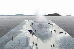 تجربه قدم زدن بر روی اقیانوس ؛ پاویون thematics