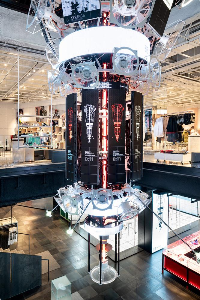 طراحی داخلی و نمای فروشگاه نایک در نیویورک