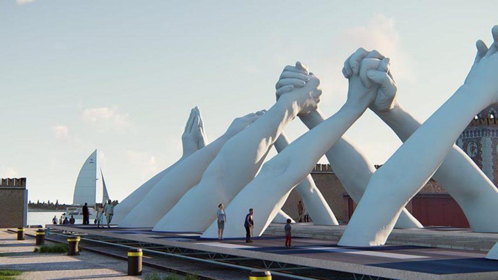 طراحی نماد صلح جهانی در بینال ونیز توسط هنرمند ایتالیایی