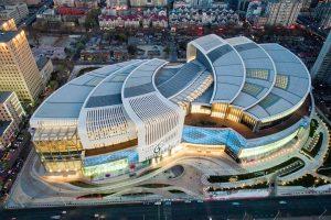 طراحی مرکز خرید Olympia 66 در دالیان چین با رویکرد احترام به شهر