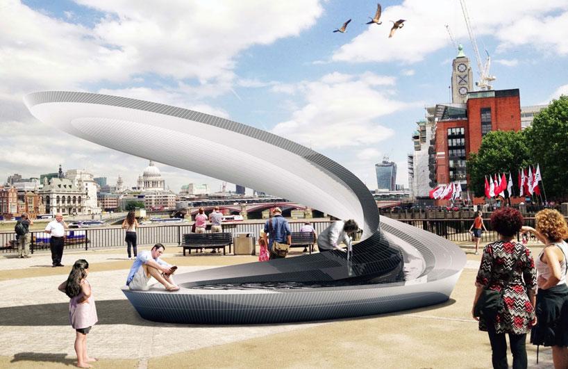 رونمایی از شش فواره سرامیکی در نمایشکاه کیوسک لندن