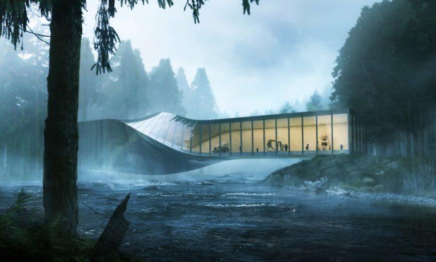 طراحی موزه کیستفوس نروژ بر اساس الگوی هندسه پیچشی