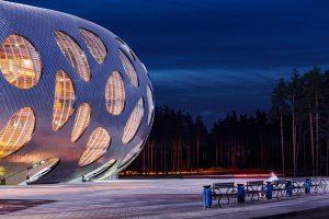 معماری دیدنی استادیوم ورزشیBorisov در کشور بلاروس