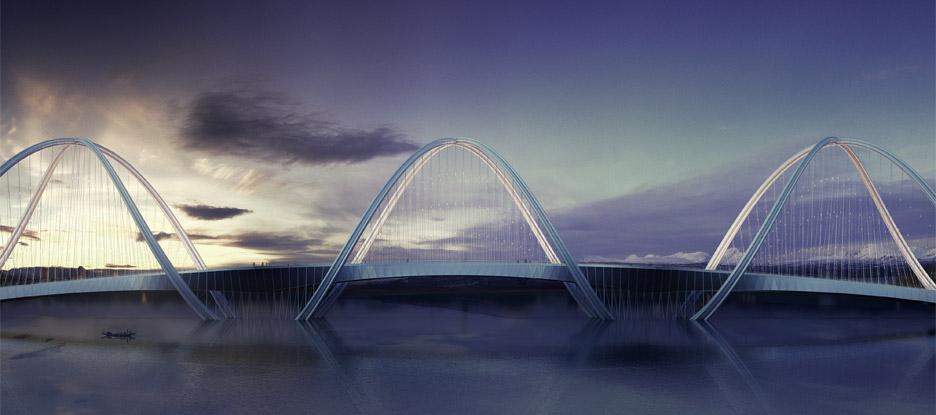 طراحی پل San Shan ؛ طرحی برگرفته از نماد المپیک