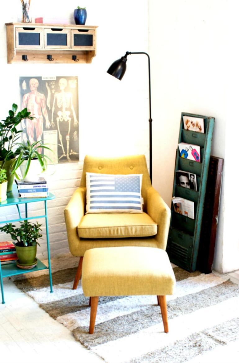 شش ایده صندلی راحتی برای اتاق خواب با فضای کوچک