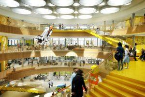 طراحی دفتر مرکزی شرکت لگو در دانمارک با الهام از قطعات لگو