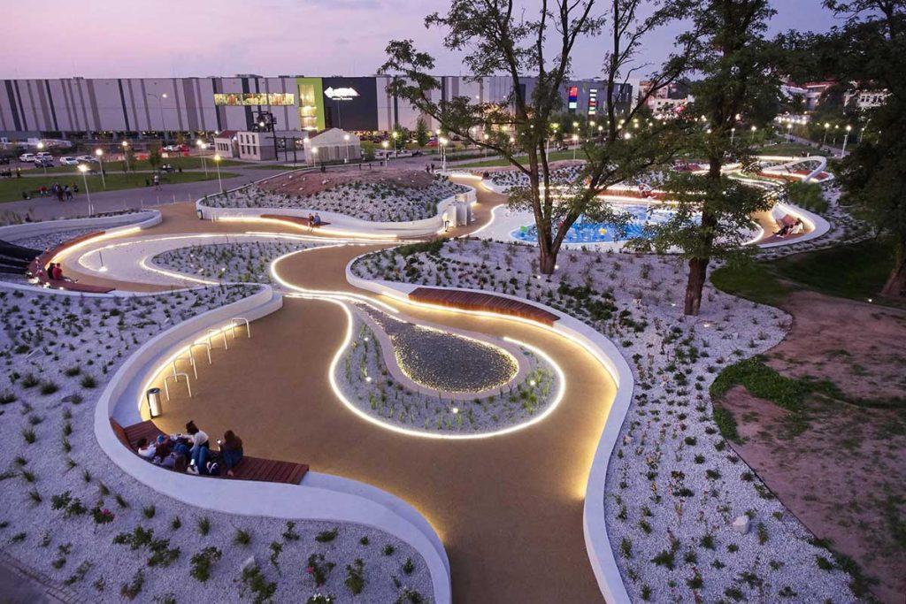 طراحی پارک آبی عمومی کودکان یاووژنو در لهستان