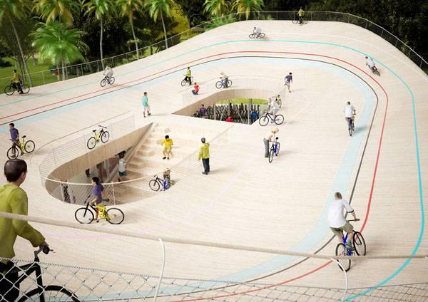 یک پاسخ جدید به یک نیاز قدیمی ؛ پیست دوچرخه سواری بر روی سقف