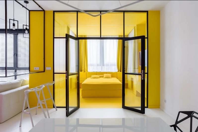 طراحی داخلی آپارتمان مسکونی براساس آثار هنری پیت موندریان