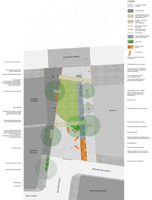 طراحی پارک خیابانی بالفور در سیدنی بر اساس هندسه موجود