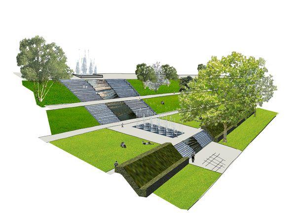 پیوند زندگی شهری داخلی و خارجی در پارک پشت بام ویرهون استریپ
