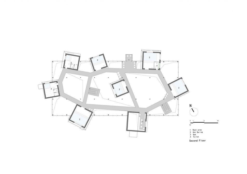 طراحی چشمه آب گرم توسط استودیو معماری BIUE در چین