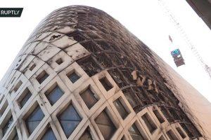 جزئیات آتش سوزی در ساختمان تجاری معماران زاها حدید در شهر بیروت
