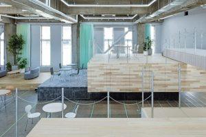 طراحی یک فضای کار چند سطحی معماران Shuhei Goto