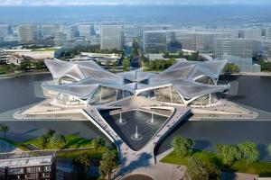 معماران زاها حدید از تصاویر مرکز فرهنگی چهار بال در جوهای چین رونمایی کرد!